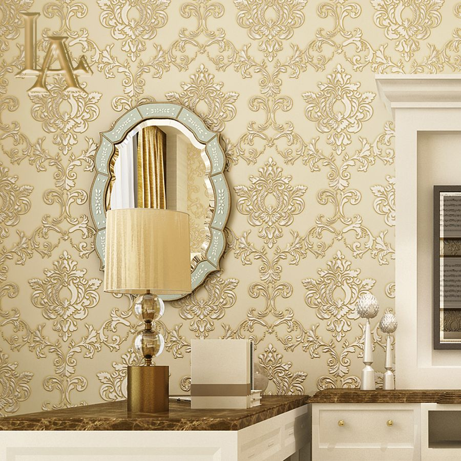 Cheap Wallpaper 3d Buy Quality Wallpaper For Home Decoration Directly From China Wallpaper Living Room Damask Wallpaper Living Room Elegant Living Room Decor