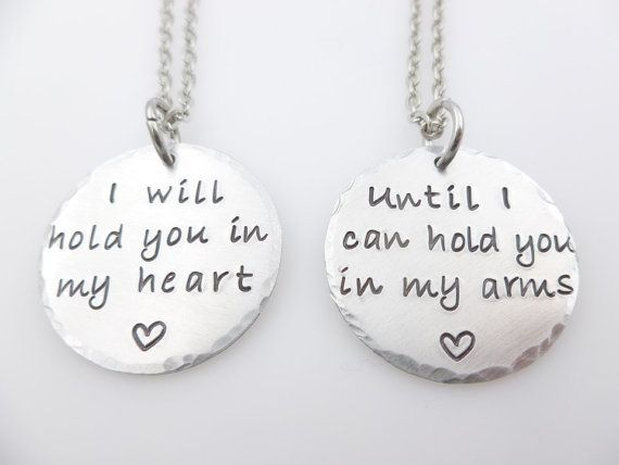 LDR Long Distance Relationship Couples Gift Necklaces Custom states engraved