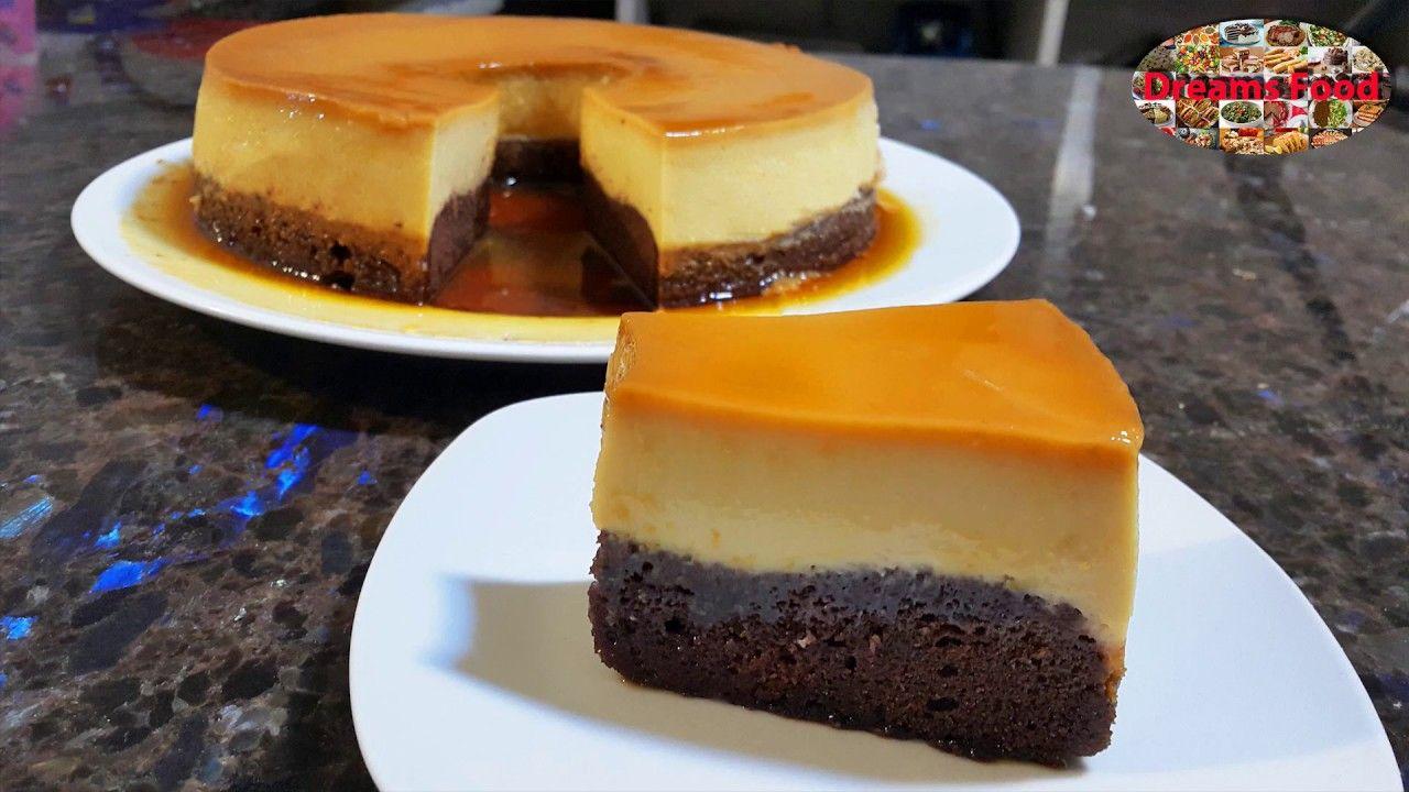 كعكة الكريم كراميل اثنين بواحد قدرة قادر بأبسط طريقة Cream Caramel Cake Desserts Food Mini Cheesecake