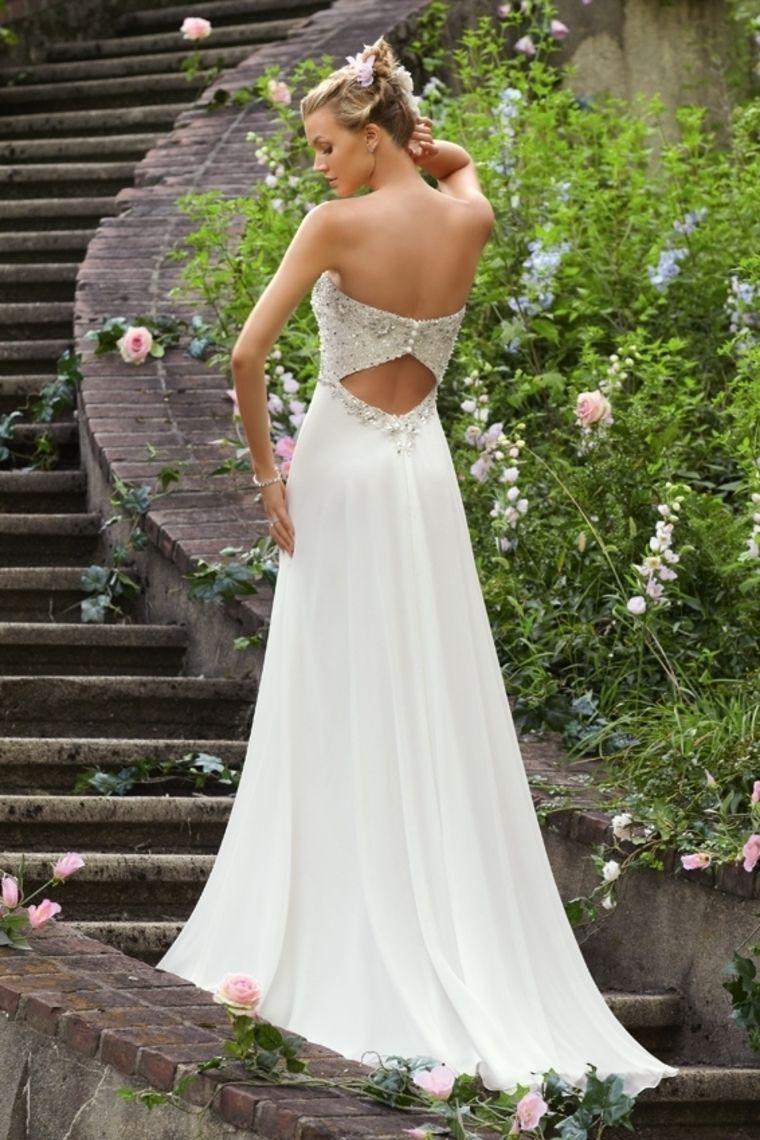 Chiffon wedding dress empire waist  wedding dresses vintage wedding dresses best wedding dresses