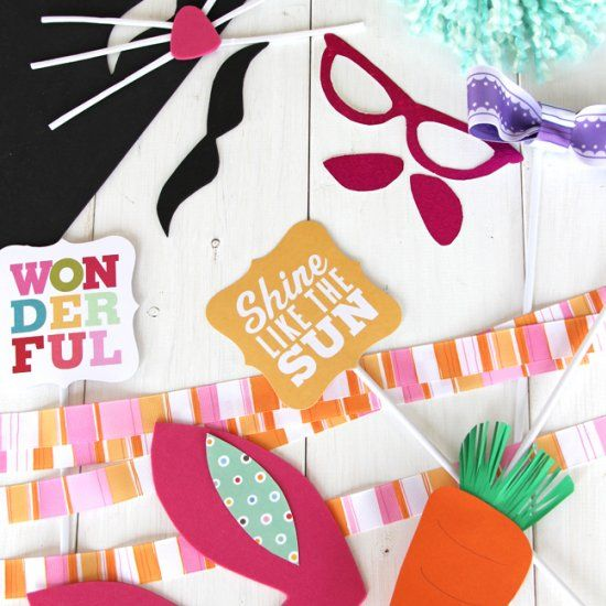 Make Your Own Props For An Easter Photo Booth So Much Fun Picture Taking