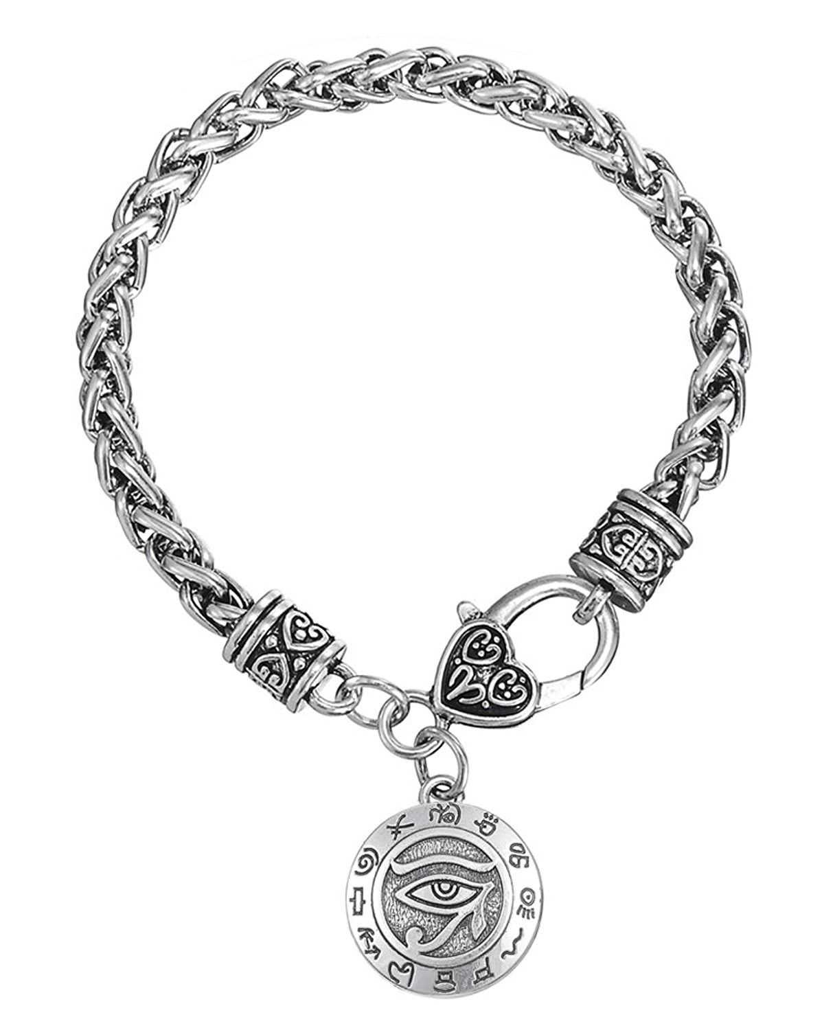 Tioneer Stainless Steel Tree of Life Symbols Heart Charm Bracelet /& Necklace