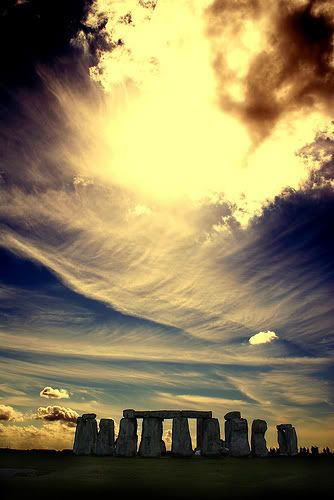 Stonehenge ~ Beautiful Sky ~ Wispy Clouds