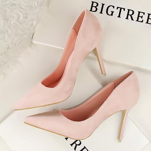 Elegant Women Pumps High Heels Pointed Toe