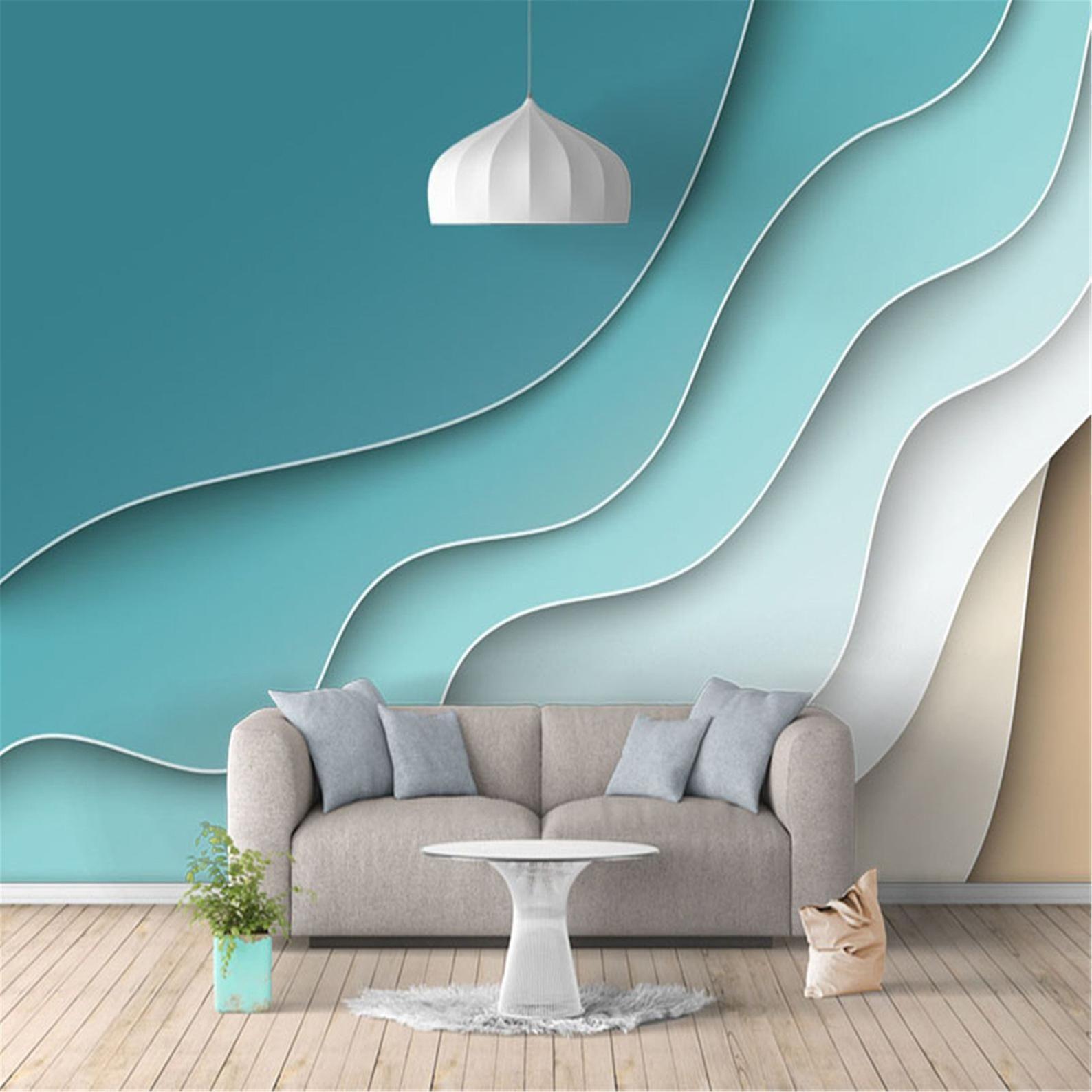 3D Wallpaper Modern Abstract Line Geometric Pattern Photo