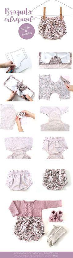 Braguita cubrepañal de bebé – Patrón y tutorial DIY-
