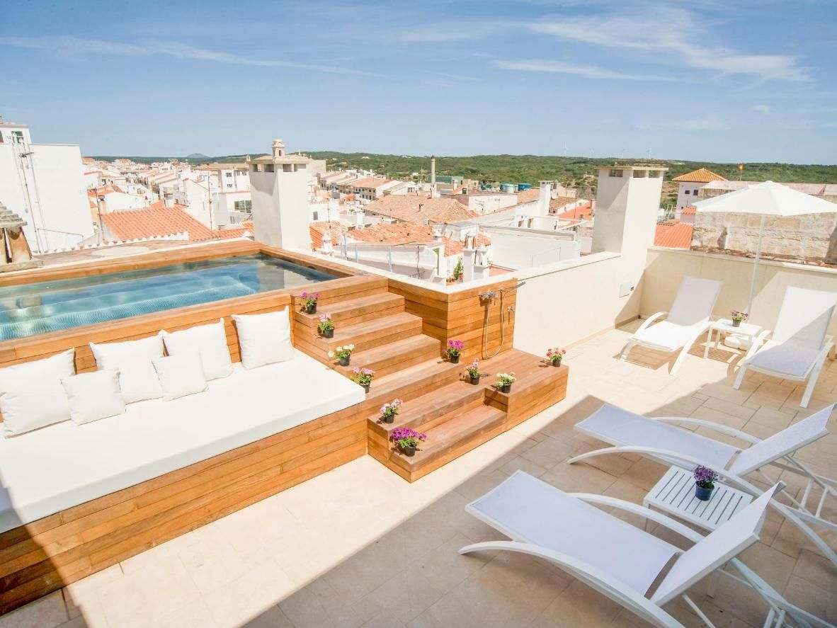 7 Restful Rooftop Pools In Spain Booking Com Rooftop Patio Design Rooftop Terrace Design Rooftop Patio