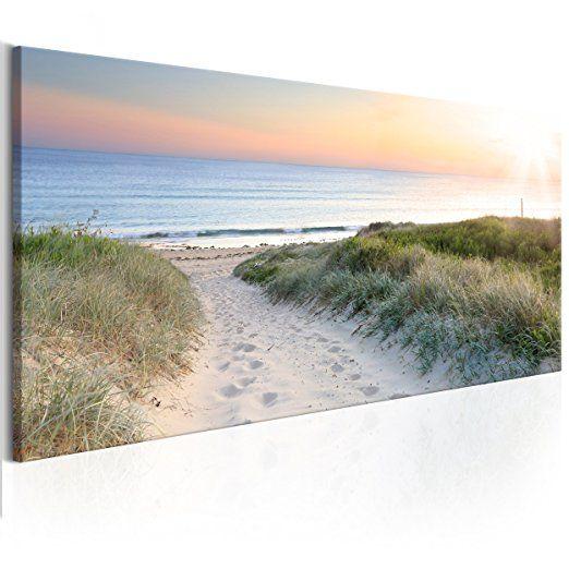 decomonkey Bilder Strand Meer 120x40 cm XXL 1 Teilig