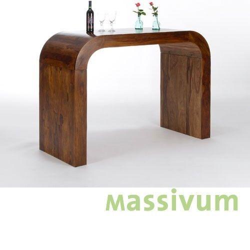 Bartisch 160x65 Palisander massiv Holz Barmöbel Stehtisch ...