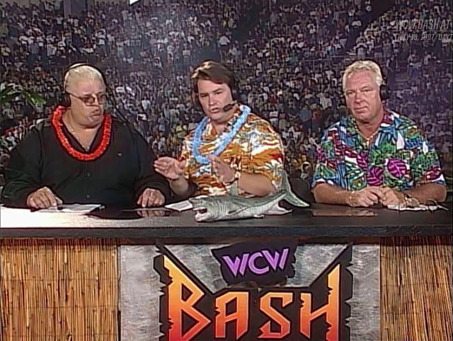 WCW Dusty Rhodes, Tony Schiavone and Bobby Heenan   Bobby heenan, Dusty rhodes, Wrestling