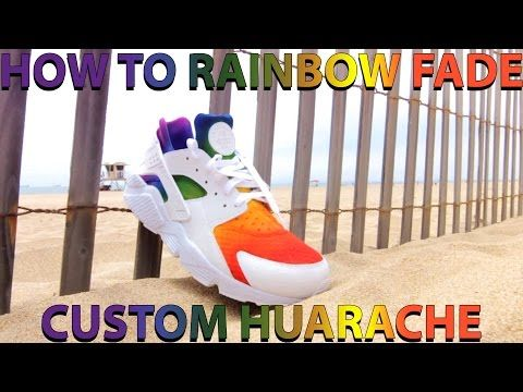 523686184532a ... where can i buy nike air huarache custom to rainbow gradient nike  huaraches are super fun