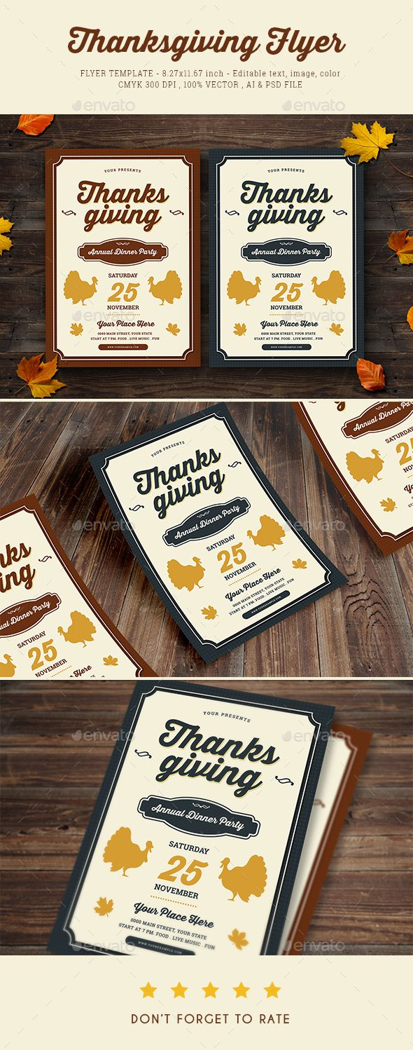Thanksgiving Dinner Flyer  Fonts Font Logo And Logos