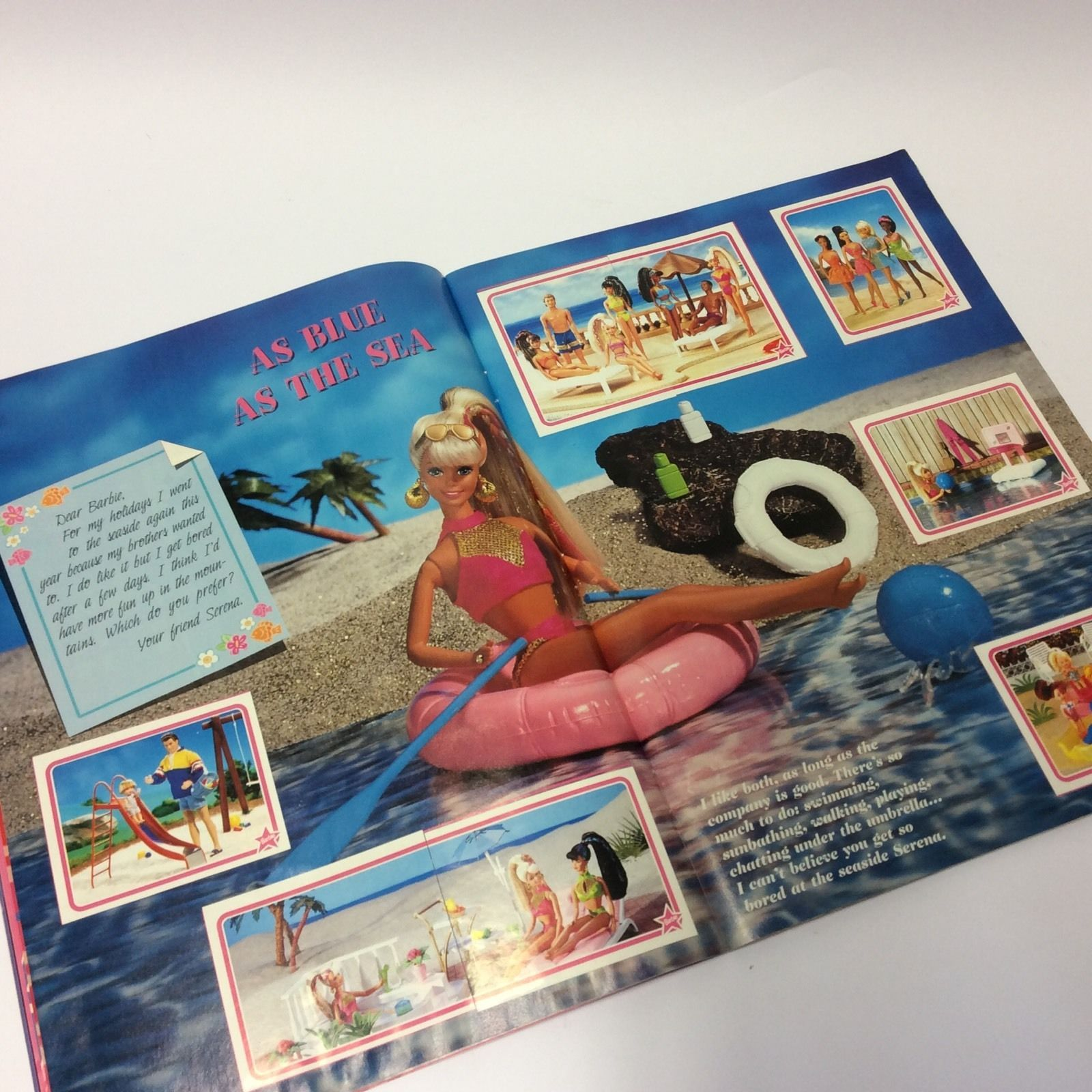 6 pages Barbie Sticker Book X3 book great for kids parties