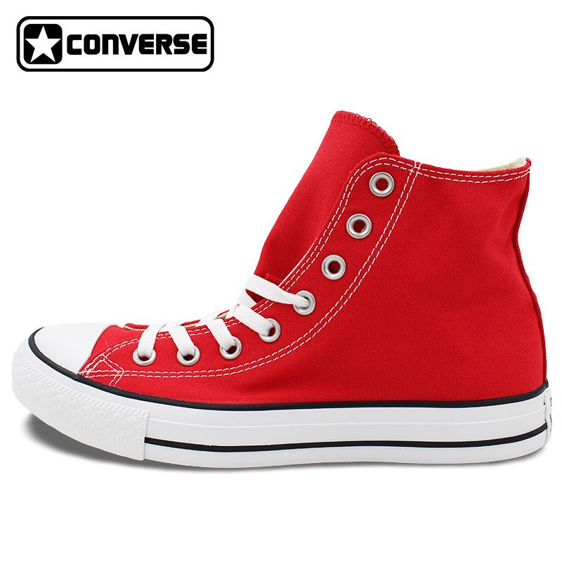 ee00d629f1dd Custom Hand Painted RED Converse All Star Shoes High Top Canvas Sneakers  Price Varies with Design