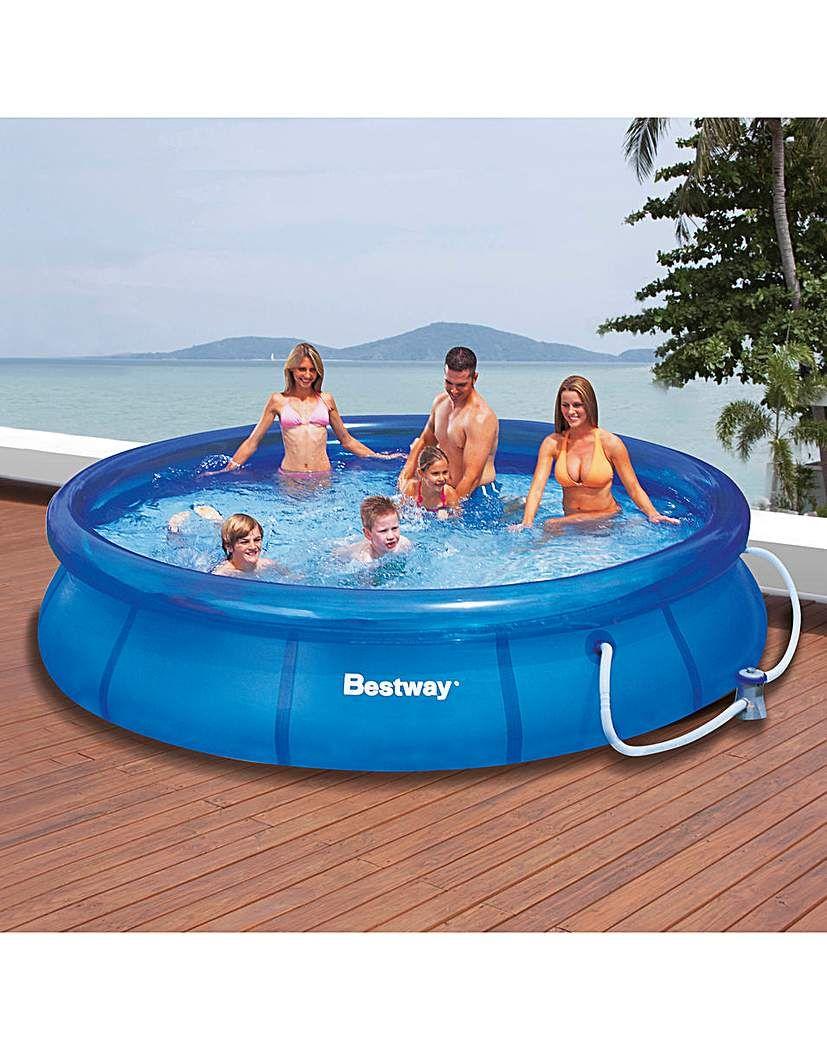 Bestway 12 Foot Fast Set Pool Pool Bestway Pool Cover