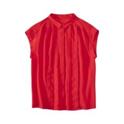 Jason Wu for Target® Collared Cap-Sleeve Pleated Blouse in Red - $26.99