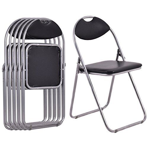 6 Pcs Folding Chairs Home Outdoor Picnic Portable Black Office Furniture Restaurant School Best Folding Chairs Folding Chair Outdoor Folding Chairs