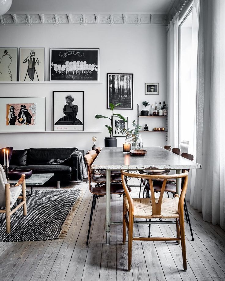 Die Farbkombination Aus Weiß, Schwarz, Creme Und Holz... Toll!