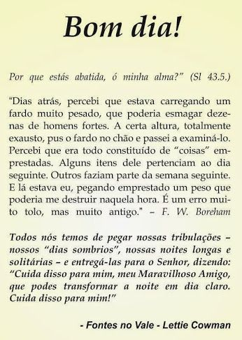 REDE MISSIONÁRIA: CUIDA DISSO PARA MIM, MEU MARAVILHOSO AMIGO! LETTI...