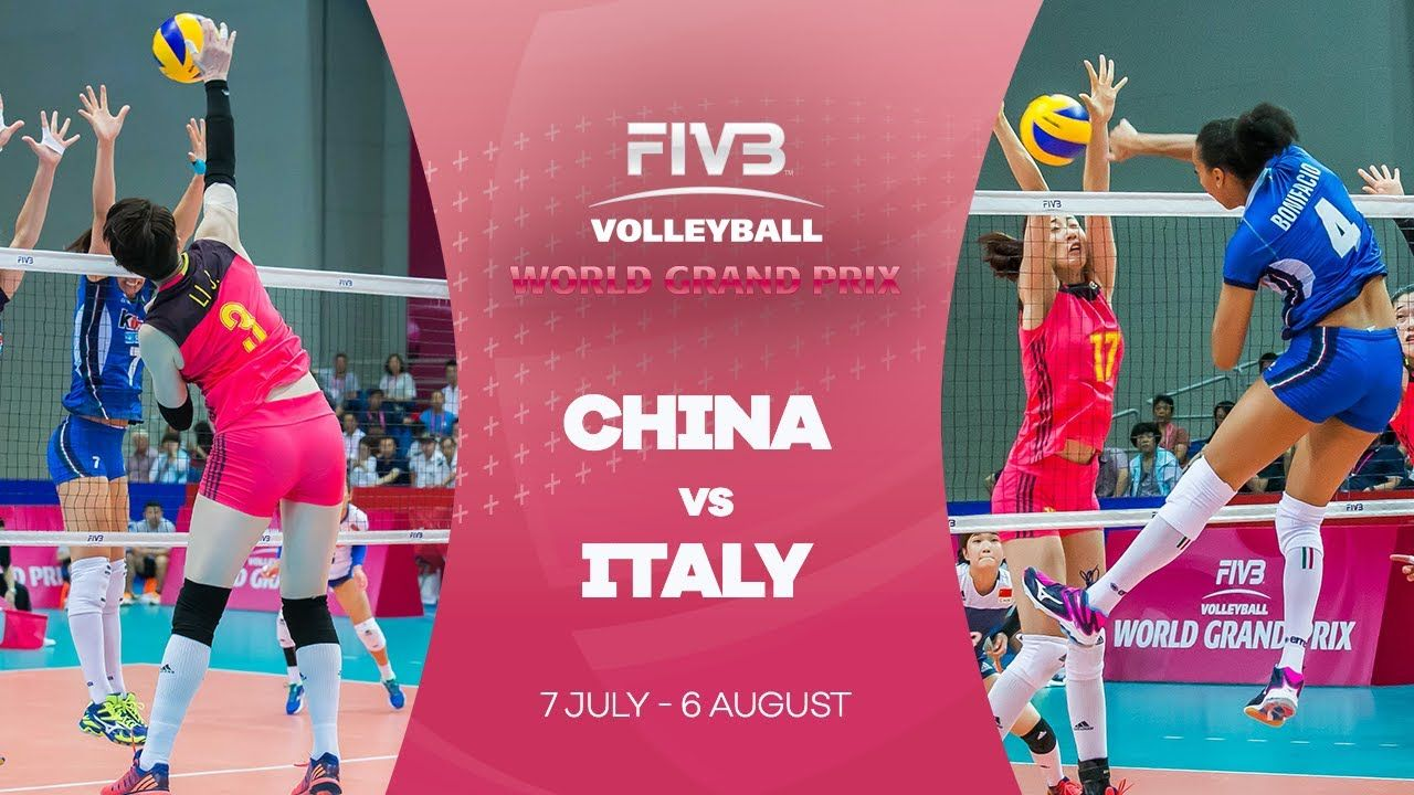 China V Italy Highlights Fivb World Grand Prix Female Volleyball Players Professional Volleyball Players Grand Prix