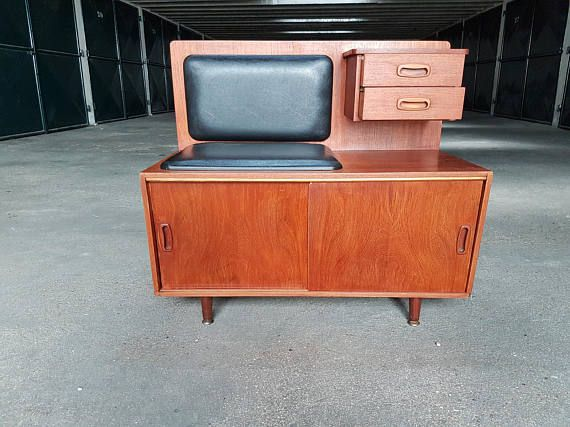 Retro mid century telephone storage seat
