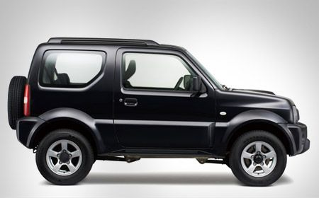 Suzuki Jimny Black Color Side Full View Suv