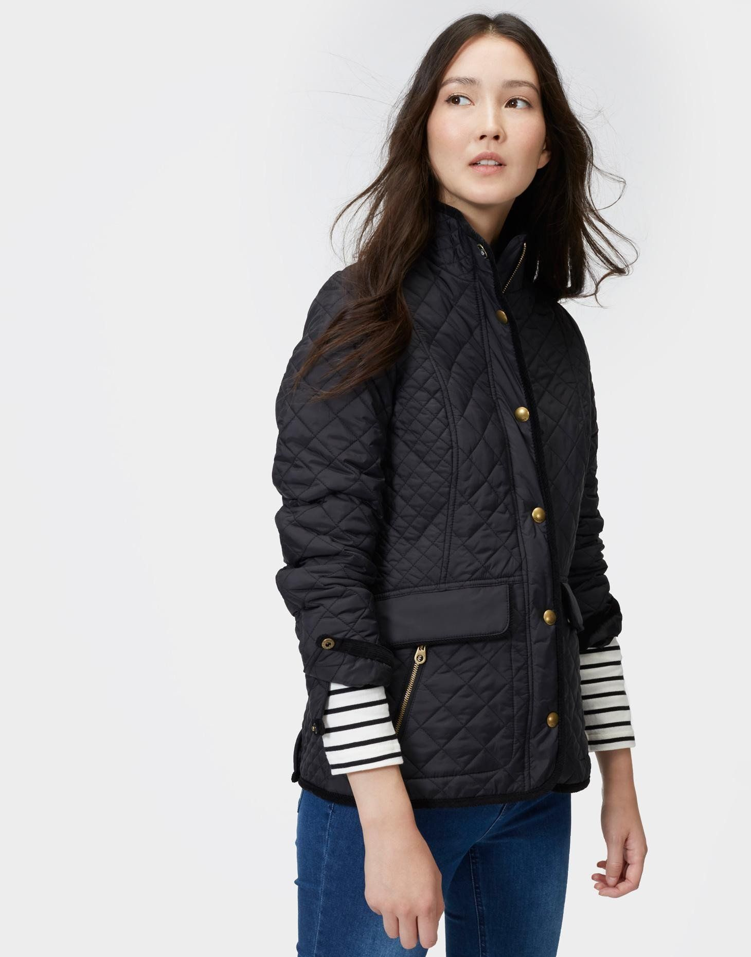 8e48f2a17 Joules Newdale Jacket - Black in 2019 | Products | Quilted jacket ...