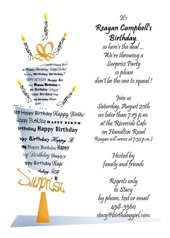 latest additions for surprise party announcements