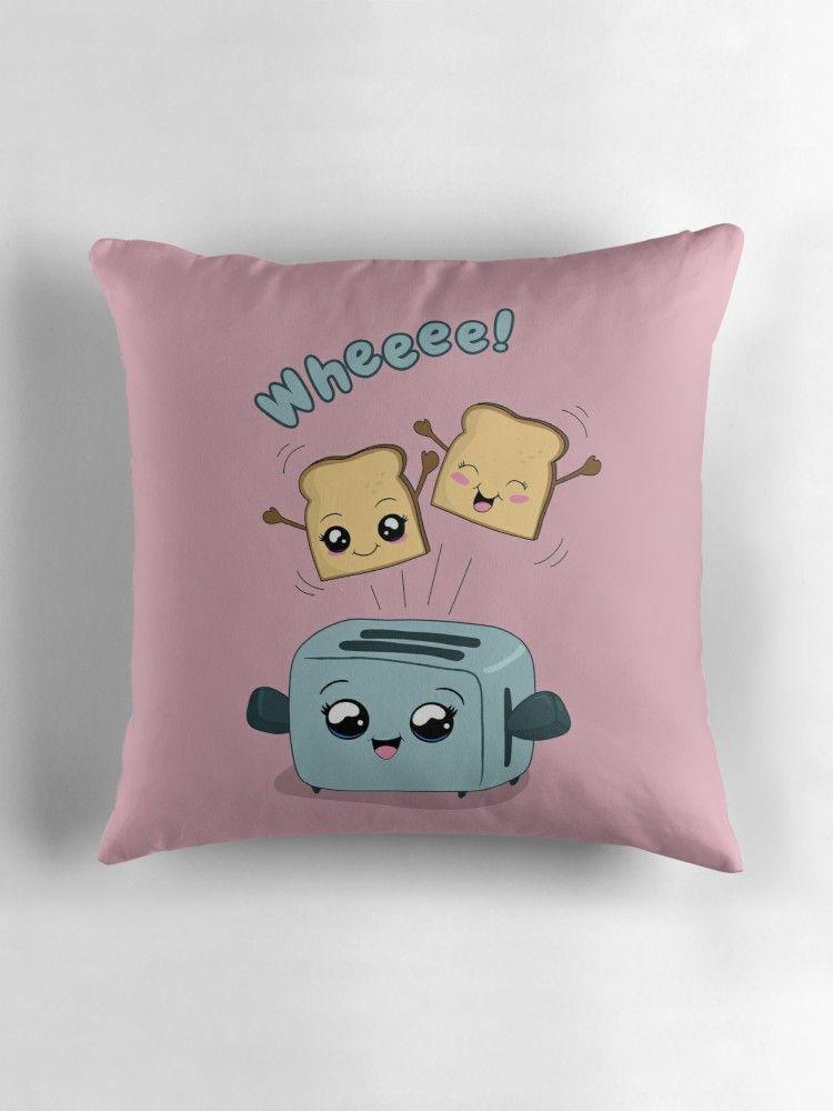 kawaii anime throw pillow