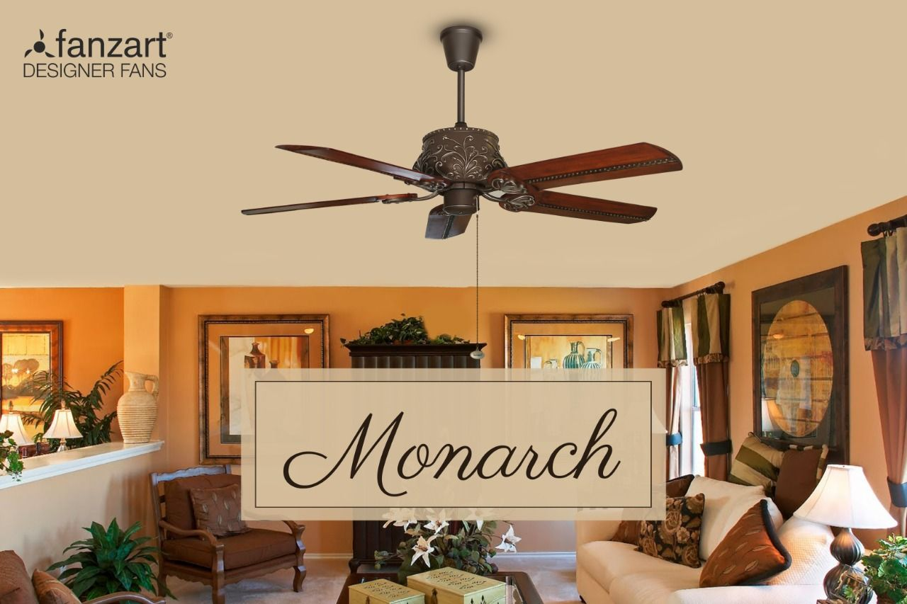 Add Monarch To Your Living Space This Designer Ceiling Fan