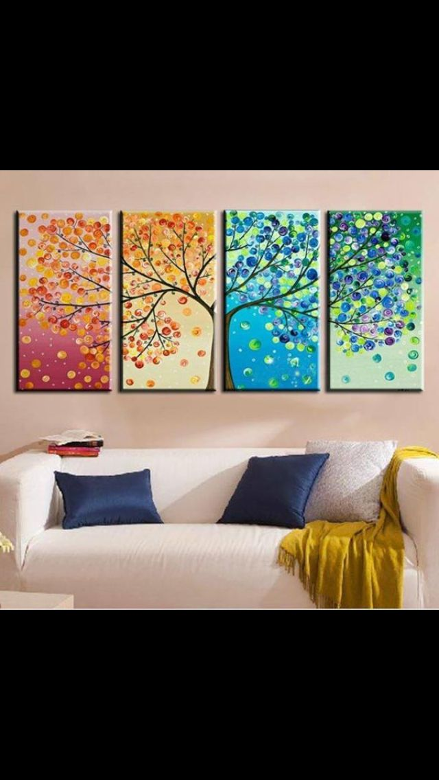 Four seasons | Ideas | Pinterest | Selber malen, Leinwand ideen und ...
