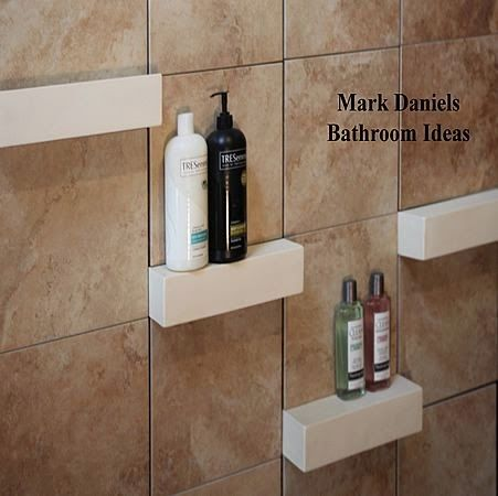 Bathroom Storage Ideas Re Organize Your Towels And Toiletries During Your Next Round Of Spring Cleaning Bathroom Shower Tile Tile Shower Shelf Shower Shelves