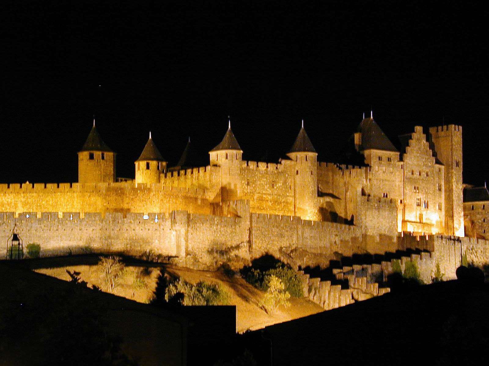 The Cathar fortress in Carcassone France