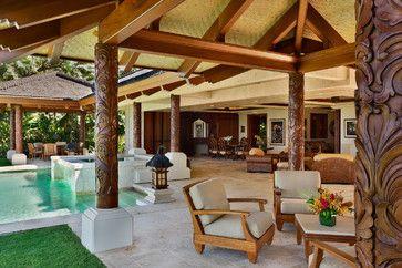 hide deck footing | patio design ideas | pinterest | bali house ... - Tropical Patio Design