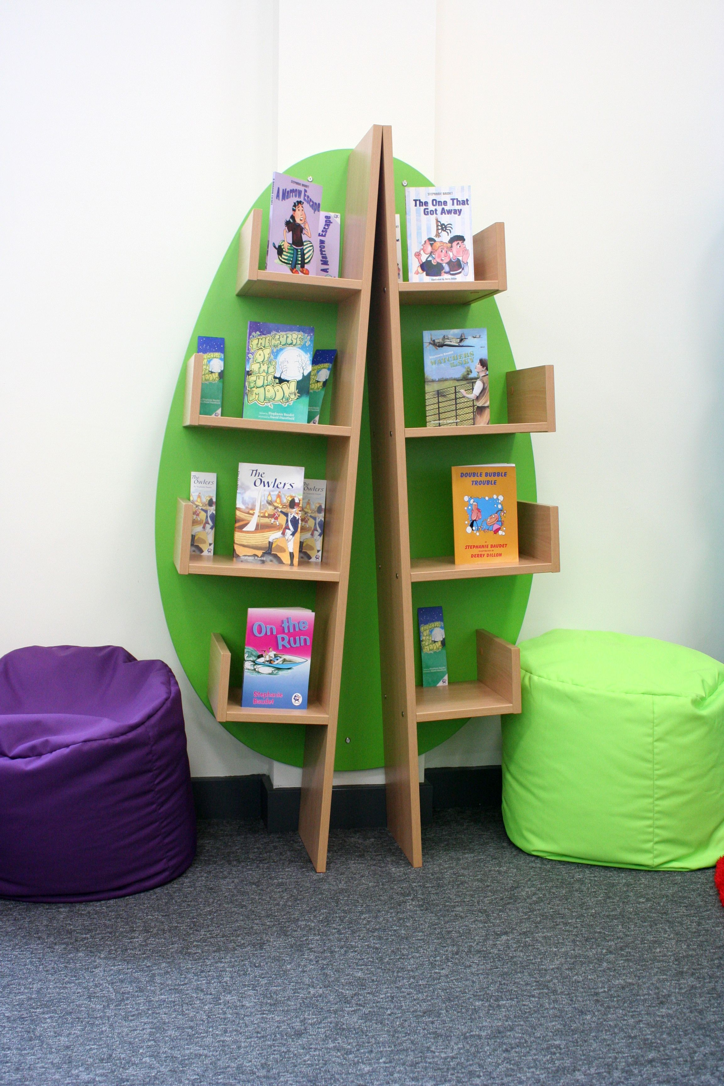 School Library Shelving: Wall Mounted Book Tree | Products | Pinterest