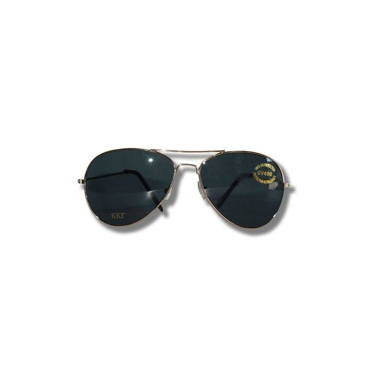 Kappa Kappa Gamma Aviator Sunglasses in Gold available now from KappaKappaGammaStore.com.