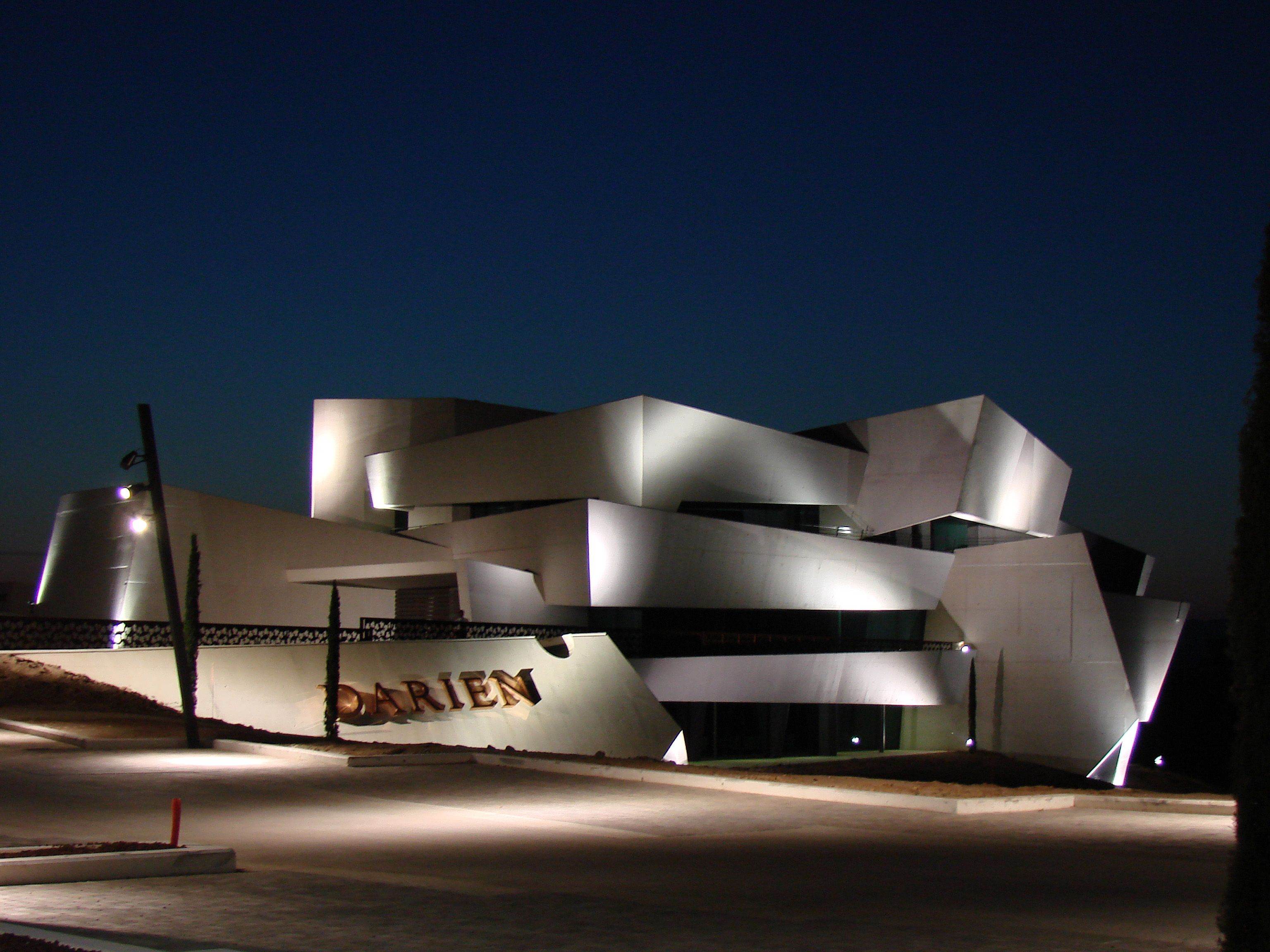 Bodegas Darien in Logroño (Rioja, Spain) designed by J. Marino Pascual #wine #architecture