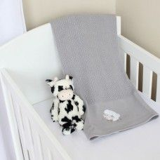 Counting Sheep Cellular Cotton Baby Blanket Grey Available Online At Http Www Babesandkids Co Za Baby Bedding Neutral Luxury Baby Bedding Baby Bed