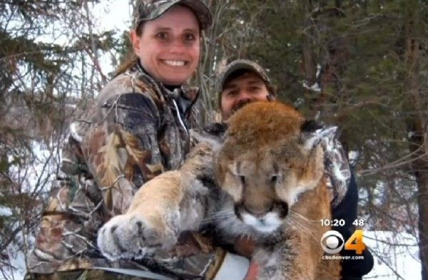 Happy Female Hunter Bags Mountain Lion & Posts Photos. Angry Animal-Rights Folks Storm Social Media In The Most Vile Ways Imaginable.