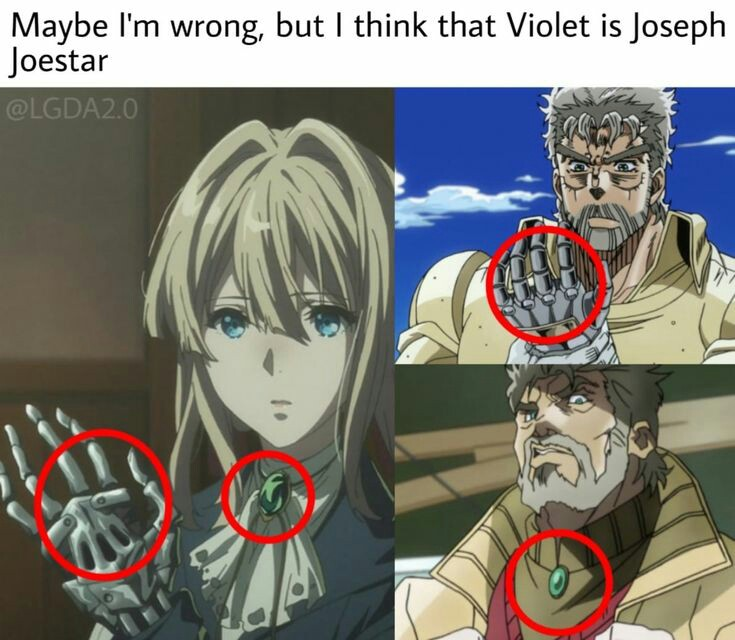 Pin by BenBen on jojo Anime, Anime funny, Violet