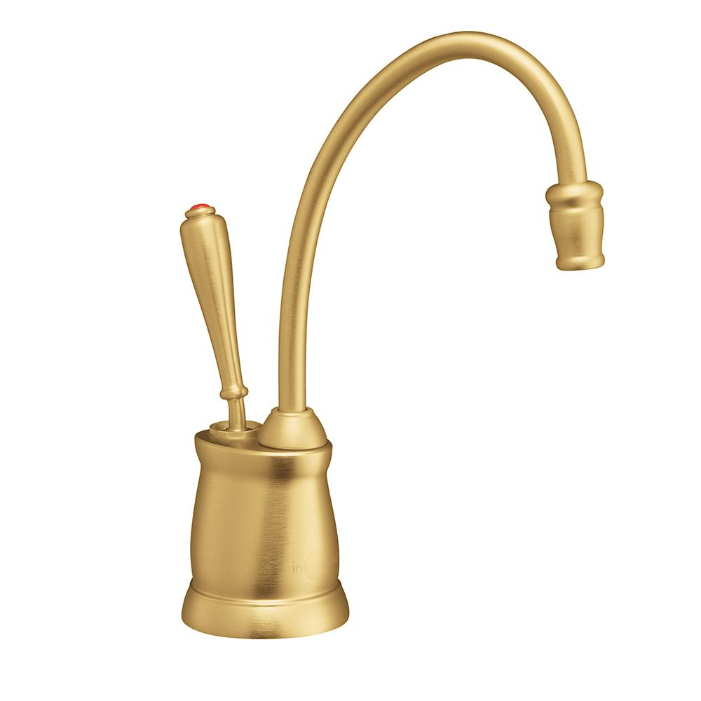 InSinkErator Indulge Tuscan Single Handle Instant Hot Water Dispenser  Faucet In Brushed Bronze