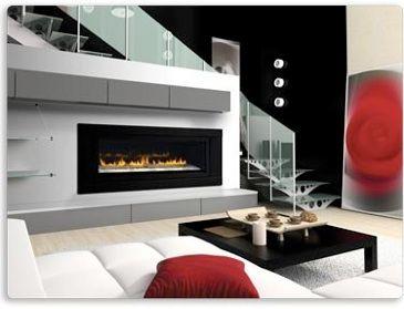 Lhd50 Modern Gas Fireplace By Napoleon Linear Glass Chimeneas De