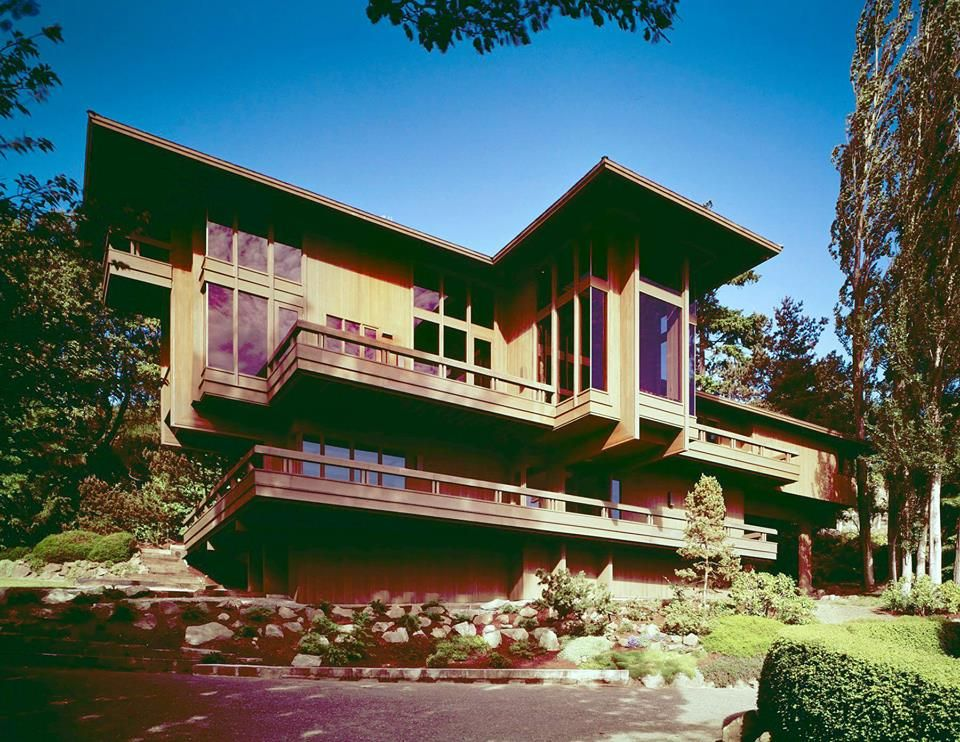 Runions House Located In Seattle Washington Designed By Ralph Anderson In The 1960 S Photo American Architecture Architecture Exterior Mid Century House