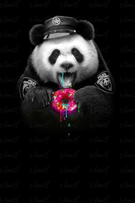 Donut Wallpaper Cute Panda Police Pandemonium Pinterest Panda Art Cute
