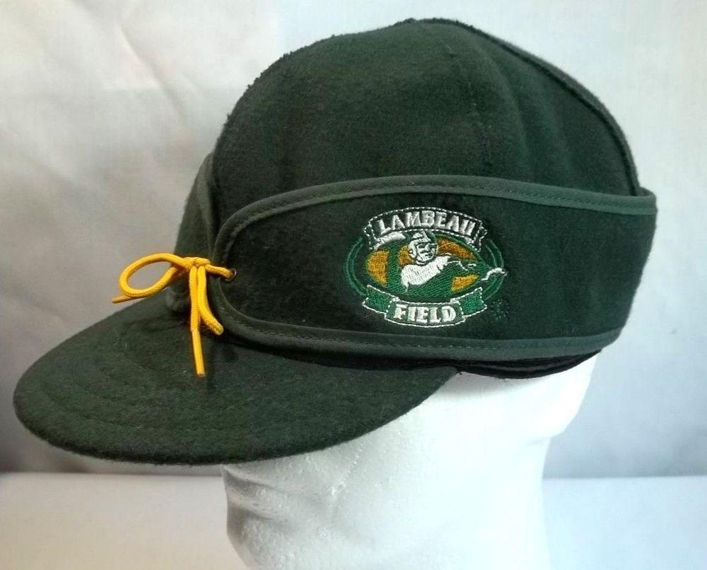 f2bb7e5e6a092 Stormy Kromer Green Bay Packers Lambeau Field Wool Blend Hat Cap M L USA  Made  StormyKromer  BaseballCap