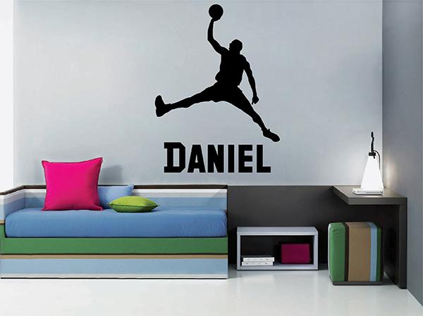 Ik2742 Wall Decal Sticker Basketball Basketball Sports Teenage