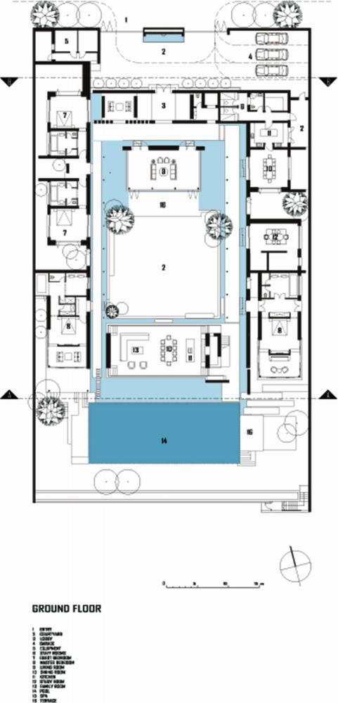 Gallery Of Chenglu Villa Gad 34 Pool House Plans House Floor Plans Floor Plans