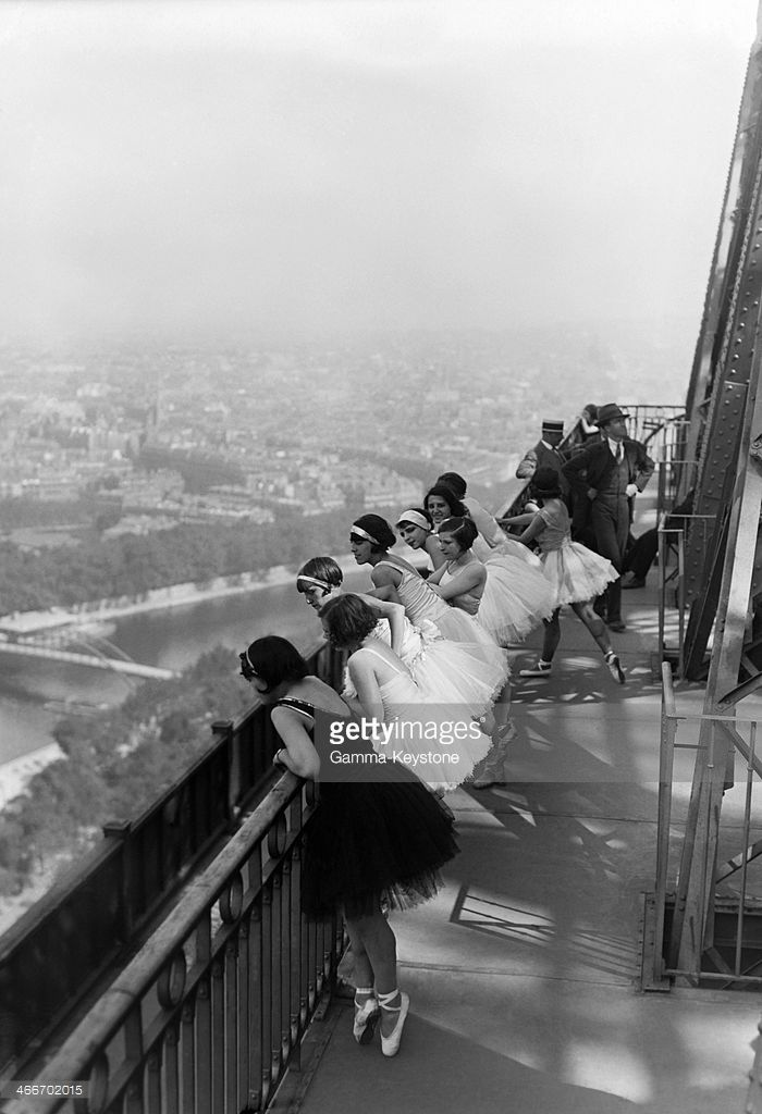 Dancers Of Famous Paris Cabaret Moulin Rouge At The Eiffel Tower In White Photography Photo Vintage Photography