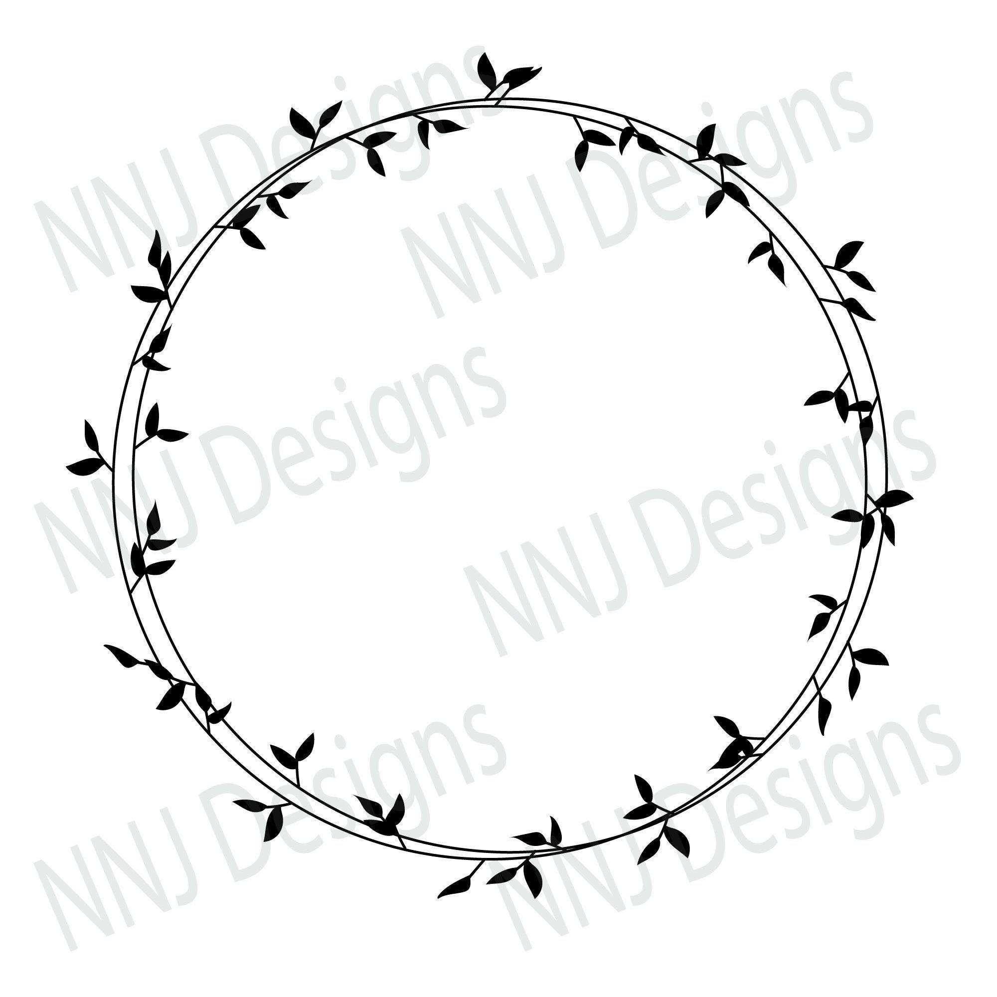 Laurel Wreath Circle Svg  Circle wreath  Four set of wreath  Single color wreath