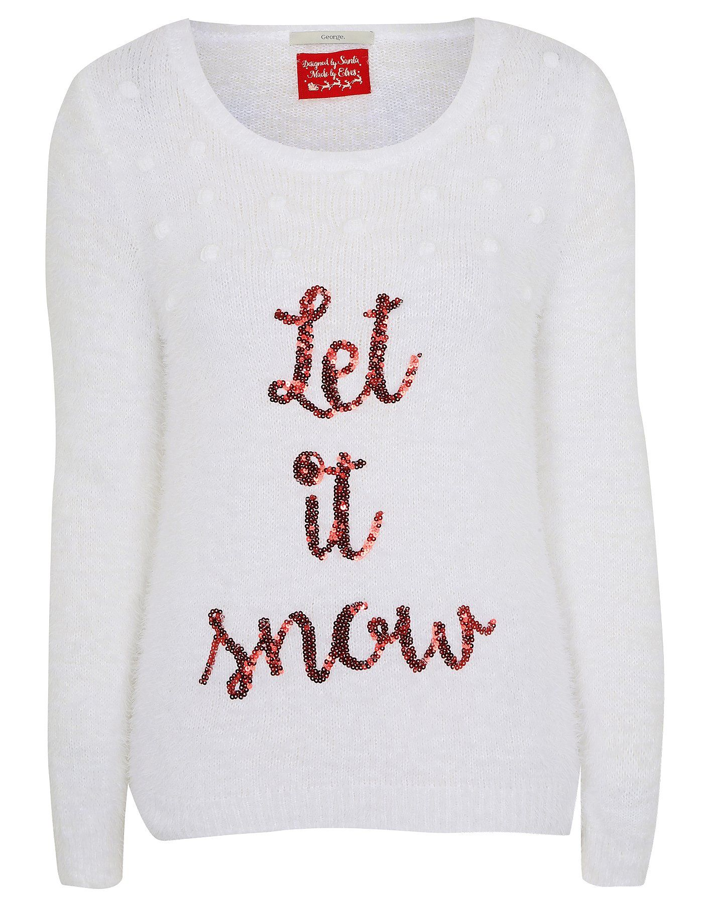 Let It Snow Christmas Jumper | Women | George at ASDA | Fashion ...